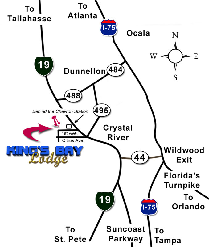 Crystal River Map To Kings Bay Florida